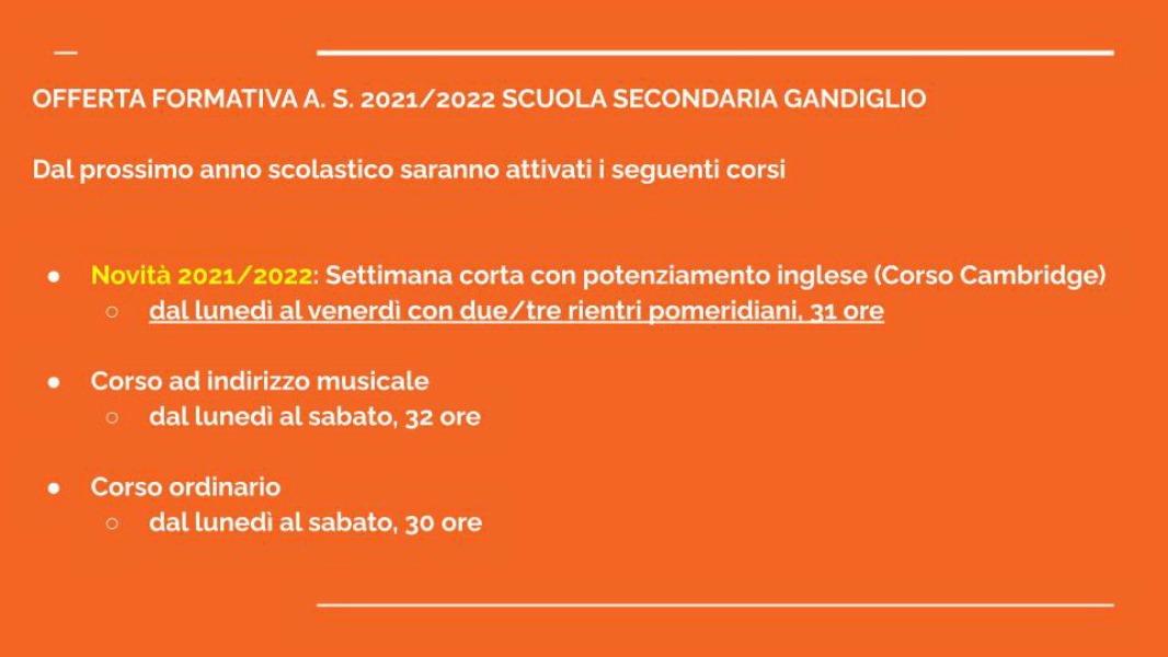 OFFERTA FORMATIVA I.C.  GANDIGLIO 2021/2022